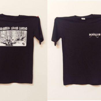 maglietta personalizzata con serigrafia ad un colore lato cure e posteriore