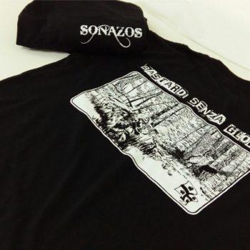 maglietta personalizzata con stampa serigrafica ad un colore sul retro