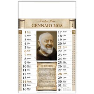 calendario illustrato padre pio