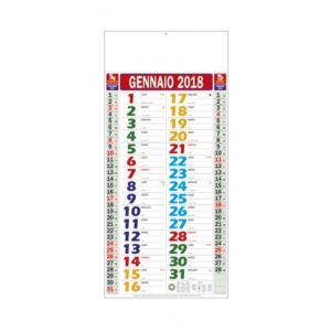 calendario olandese multicolor