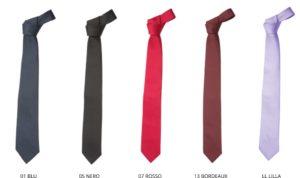 cravatte albergo hotel cameriere personalizzata con ricamo
