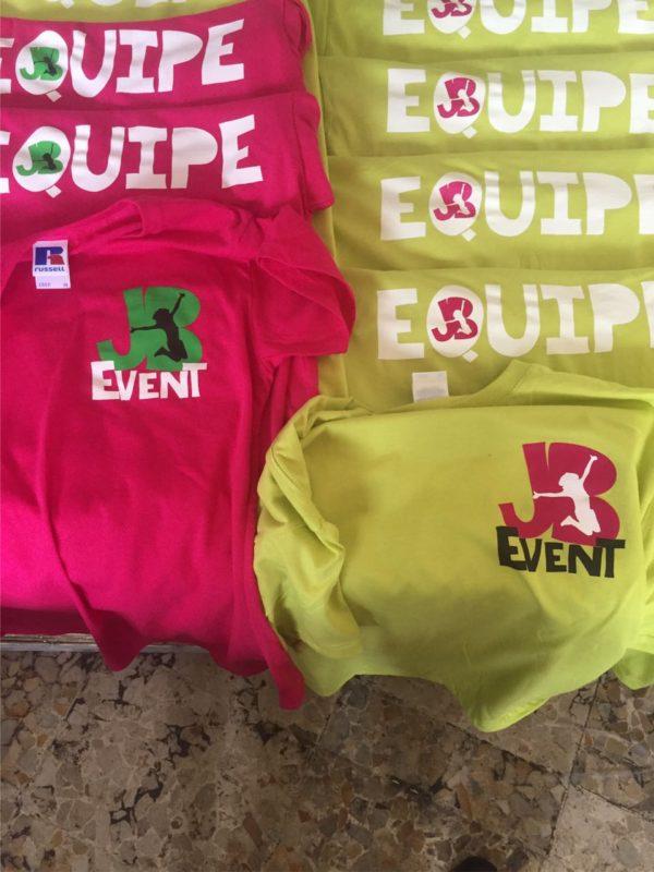 maglietta serigrafata 3 colori lato cuore e posteriore