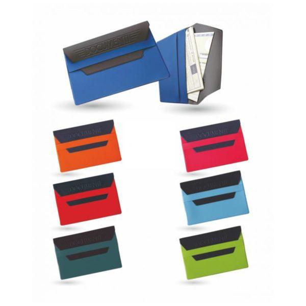 Porta Documenti con fascetta bicolore personalizzato in serigrafia