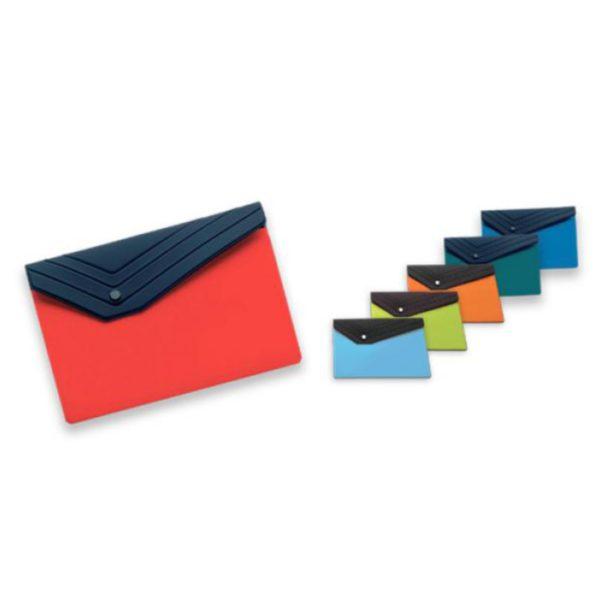 Porta Documenti con Bottone personalizzato in serigrafia ad un colore