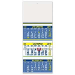 Calendario trittico con cursore
