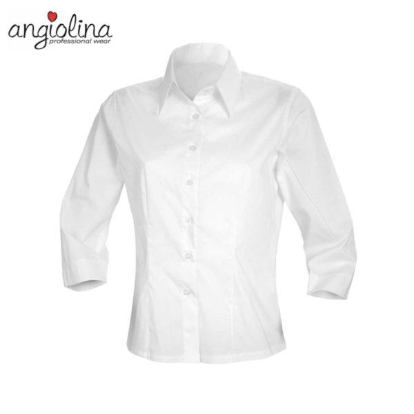 camicia da donna con maniche a 3/4 personalizzata con ricamo
