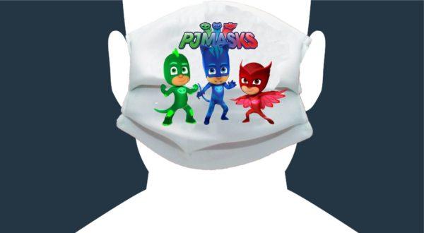 mascherina personalizzata pjamasks